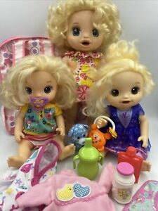 Baby Alive Doll Lot Clothes Accessories Happy Hungry 3 BA Dresses Pacifier