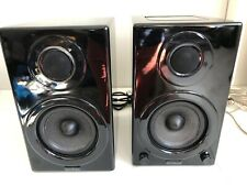 Aktimate Micro Active Bookshelf Speakers, Self Powered, Active, Glossy Black
