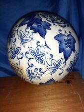 "Porcelain Blue & White 4"" Decorative Art Ball"