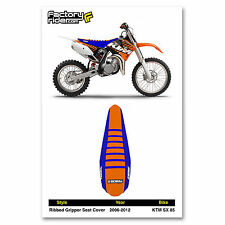2006-2012 KTM SX 85 Blue/Orange/Blue SEAT COVER RIBBED by Enjoy MFG