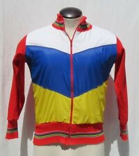Vtg 70s Giordana Sport Italy Men's Brown Red Wool Zip Cycling Jacket Top 1 Xs S