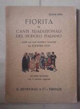 FIORITA DI CANTI TRADIZIONALI DEL POPOLO ITALIANO VARI DIALETTI LEVI 1923