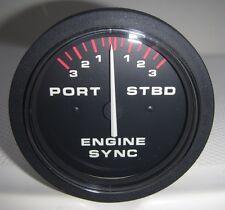 # 10733 NEW Dual Engine Sync Black / White / Red Synchronizer Gauge FREE SHIP!