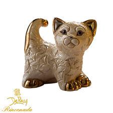 De Rosa Rinconada - Ceramic Abanico Cat Ceramic Figurine