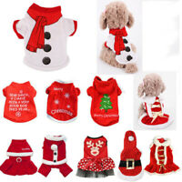 Pet Christmas Apparel Dog Puppy Shirt Clothes Costumes Warm Jacket Coat Vest