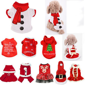 Pet Christmas Apparel Dog Puppy Shirt Clothes Costumes Warm Jacket Coat Vest