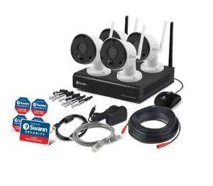 Swann Wireless IP CCTV Camera Monitoring System Kit NVW-490 1TB 4x 1080p
