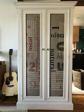 Vintage solid timber wardrobe with designer fabric inserts from Cloth