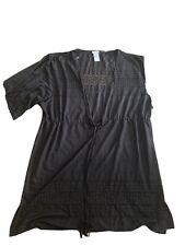 Dotti Women Black Summer Cover Up Swim Suit XL X Large