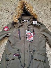 NWT Canada Weathergear Faux Fur Hooded Women's Jacket - Size Large - Green