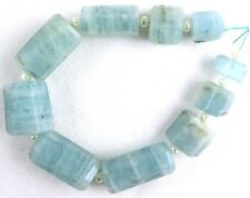 10 Pieces 1 Strand Natural Aquamarine Faceted Pencils Shape 7x12-16x19 MM Beads