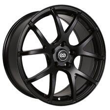 18x8 Enkei M52 5x112 +35 Black Rims Fits Audi A4 A5 A6