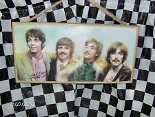 "Beatles (Color) 10"" X  5"" Wood Sign"