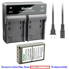 Kastar Battery Dual Rapid Charger for Olympus BLS-5 & Olympus E-PM1 EPM1 Camera