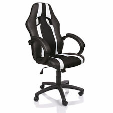 SILLA DE OFICINA SILLON DE DESPACHO ESTUDIO DIRECCION GIRATORIA RACING BLANCO