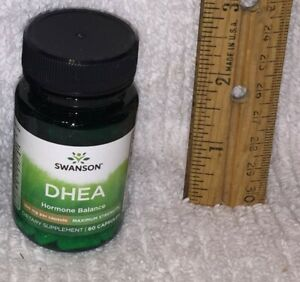 D H E A, from Swanson.  60 capsules, 100 mg each