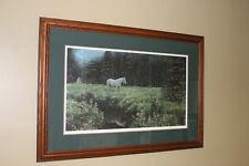 Robert Bateman High Camp at Dusk framed matted signed limited edition Print