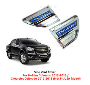 CHROME SIDE VENT SIDE VENTS COVER Fit For CHEVROLET COLORADO 2012 2013 - 2016