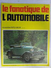Le Fanatique de l'Automobile n° 86 /DELAGE records/VAUXHALL/TORPEDO FISHER/MG