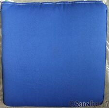 New John Lewis Olefin Lapis Blue Weatherproof Padded Garden Seat Chair Cushion