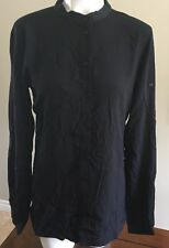 Diesel Womens C-Lucy-A Shirt Black Small Button Front Long Sleeve
