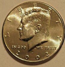 ERROR - 2002 P KENNEDY HALF  DOLLAR -  DIE CRACK ON CHIN, GREASE STRIKE THRU....