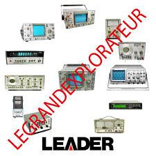 Ultimate LEADER Operation  Maintenance Repair Service manual      330 PDF on DVD