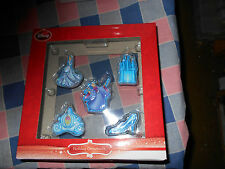 "NIB Disney Cinderella  Holiday Ornaments Set of 5    Each About 1 1/4 - 2"" High"