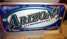 Arizona Diamondbacks major league baseball MLB team License Plate, made in USA