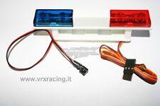 T958 LAMPEGGIANTE POLIZIA 2 LED ROSSO E BLU 1:10 1:18 1:5 1:8 POLICE KIT LED VRX