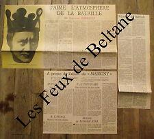 Article Berenice Le songe des Prisonniers,Marigny,Barrault,polemique 1955