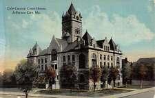 Jefferson City Missouri Cole Court House Street View Antique Postcard K51821