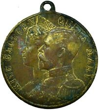 More details for 1911 coronation medal of king george v & queen mary, collectible   #wt30161