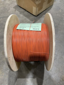 22 AWG 22 GAUGE SOLID TINTED WIRE ORANGE 5000FT   B151