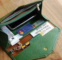 Women Ladies Handbag Clutch Wallet Leather Long Card Holder Purse Envelope Bag
