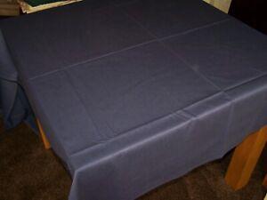 "Restaurant Quality Navy Blue Cotton Tablecloth 108"" x 60""."