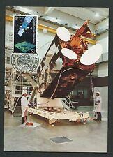 LIECHTENSTEIN MK 1991 EUROPA CEPT SATELLIT SPACE CARTE MAXIMUM CARD MC CM d2422