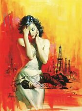 PAINTINGS PORTRAIT SURREAL FANTASY OIL WELL PUMP DEATH ART POSTER PRINT LV3409
