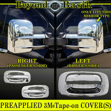 1999-2006 SILVERADO Chrome Door Handle W/O PSK +Tow Mirror+ Tailgate COVERS 2DR