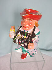 Antique Large Toby Mug Man Accordion Doll over 7 ins tall Occupied Japan Chips