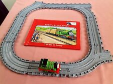 TAKE ALONG THOMAS & FRIENDS DIECAST PERCY TRAIN ENGINE STORY BOOK & TRACK BUNDLE