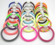 Wickel Modeschmuck-Armbänder aus Leder mit Strass