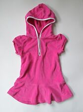 Ralph Lauren pink terry hoodie dress cover up green Polo pony 18M