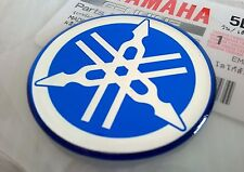 1 x YAMAHA 100% GENUINE 40MM TUNING FORK BLUE DECAL EMBLEM STICKER BADGE