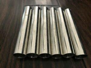 "Stainless Steel Cannoli Tubes Form Set of 6 Dishwasher Safe 5.5"" SS"