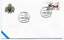 2000-07-07 San Marino Anaheim world stamp expo 2000 ANNULLO SPECIALE Cover