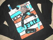 NEW FADED GLORY SKATER KICK FLIP SKATE BOARD BOYS XXL18 THERMAL LS TSHIRT NWT
