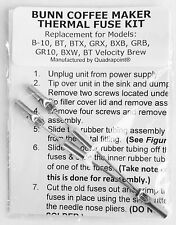 Repair Your Bunn Coffee Maker Water not Heating? New Thermal Fuse Kit Part Fix
