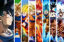 Dragon Ball Super Poster SSJ Goku All Forms Transformations DBZ - 11x17 13x19
