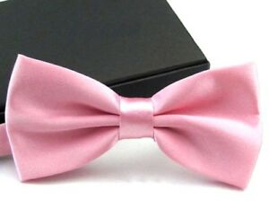 New Tuxedo PreTied Pink Bow Tie Satin Matching Adjustable Band  US SELLER